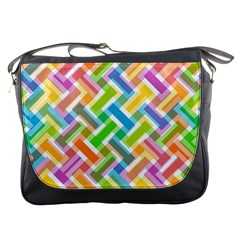 Abstract Pattern Colorful Wallpaper Background Messenger Bags