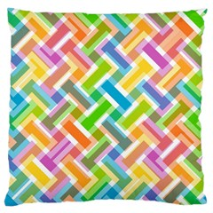 Abstract Pattern Colorful Wallpaper Background Large Cushion Case (One Side)