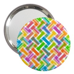 Abstract Pattern Colorful Wallpaper Background 3  Handbag Mirrors