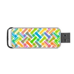 Abstract Pattern Colorful Wallpaper Background Portable USB Flash (One Side)