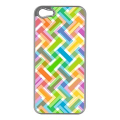 Abstract Pattern Colorful Wallpaper Background Apple iPhone 5 Case (Silver)