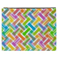 Abstract Pattern Colorful Wallpaper Background Cosmetic Bag (XXXL)