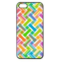 Abstract Pattern Colorful Wallpaper Background Apple iPhone 5 Seamless Case (Black)