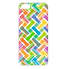 Abstract Pattern Colorful Wallpaper Background Apple iPhone 5 Seamless Case (White)