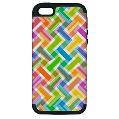 Abstract Pattern Colorful Wallpaper Background Apple iPhone 5 Hardshell Case (PC+Silicone)