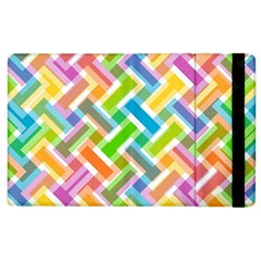 Abstract Pattern Colorful Wallpaper Background Apple iPad 2 Flip Case