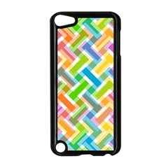 Abstract Pattern Colorful Wallpaper Background Apple iPod Touch 5 Case (Black)