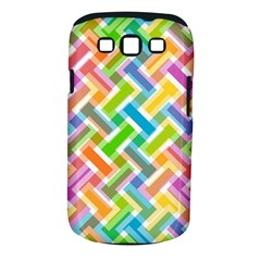 Abstract Pattern Colorful Wallpaper Background Samsung Galaxy S III Classic Hardshell Case (PC+Silicone)