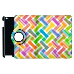 Abstract Pattern Colorful Wallpaper Background Apple iPad 2 Flip 360 Case