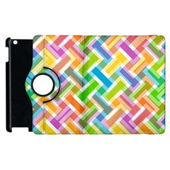 Abstract Pattern Colorful Wallpaper Background Apple iPad 3/4 Flip 360 Case
