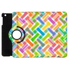 Abstract Pattern Colorful Wallpaper Background Apple iPad Mini Flip 360 Case