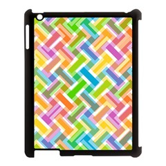 Abstract Pattern Colorful Wallpaper Background Apple iPad 3/4 Case (Black)