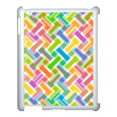 Abstract Pattern Colorful Wallpaper Background Apple iPad 3/4 Case (White)