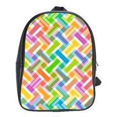 Abstract Pattern Colorful Wallpaper Background School Bags (XL)