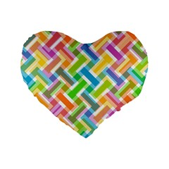 Abstract Pattern Colorful Wallpaper Background Standard 16  Premium Heart Shape Cushions