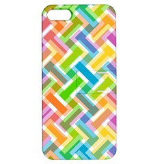 Abstract Pattern Colorful Wallpaper Background Apple iPhone 5 Hardshell Case with Stand