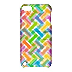 Abstract Pattern Colorful Wallpaper Background Apple iPod Touch 5 Hardshell Case with Stand
