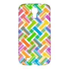 Abstract Pattern Colorful Wallpaper Background Samsung Galaxy S4 I9500/I9505 Hardshell Case