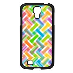 Abstract Pattern Colorful Wallpaper Background Samsung Galaxy S4 I9500/ I9505 Case (Black)