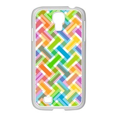 Abstract Pattern Colorful Wallpaper Background Samsung GALAXY S4 I9500/ I9505 Case (White)