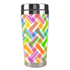 Abstract Pattern Colorful Wallpaper Background Stainless Steel Travel Tumblers
