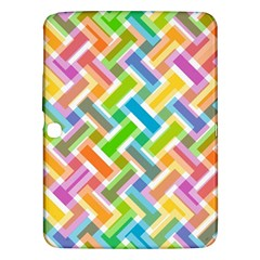 Abstract Pattern Colorful Wallpaper Background Samsung Galaxy Tab 3 (10.1 ) P5200 Hardshell Case