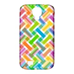 Abstract Pattern Colorful Wallpaper Background Samsung Galaxy S4 Classic Hardshell Case (PC+Silicone)