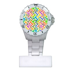 Abstract Pattern Colorful Wallpaper Background Plastic Nurses Watch
