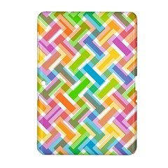 Abstract Pattern Colorful Wallpaper Background Samsung Galaxy Tab 2 (10.1 ) P5100 Hardshell Case