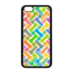 Abstract Pattern Colorful Wallpaper Background Apple iPhone 5C Seamless Case (Black)