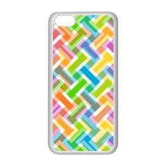 Abstract Pattern Colorful Wallpaper Background Apple Iphone 5c Seamless Case (white) by Simbadda