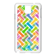Abstract Pattern Colorful Wallpaper Background Samsung Galaxy Note 3 N9005 Case (White)