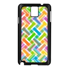 Abstract Pattern Colorful Wallpaper Background Samsung Galaxy Note 3 N9005 Case (Black)
