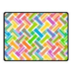 Abstract Pattern Colorful Wallpaper Background Double Sided Fleece Blanket (Small)