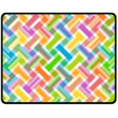 Abstract Pattern Colorful Wallpaper Background Double Sided Fleece Blanket (Medium)