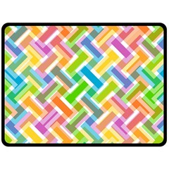 Abstract Pattern Colorful Wallpaper Background Double Sided Fleece Blanket (Large)