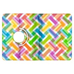 Abstract Pattern Colorful Wallpaper Background Kindle Fire HDX Flip 360 Case