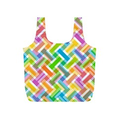 Abstract Pattern Colorful Wallpaper Background Full Print Recycle Bags (S)