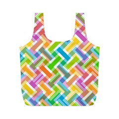 Abstract Pattern Colorful Wallpaper Background Full Print Recycle Bags (M)