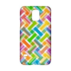Abstract Pattern Colorful Wallpaper Background Samsung Galaxy S5 Hardshell Case