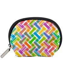 Abstract Pattern Colorful Wallpaper Background Accessory Pouches (Small)