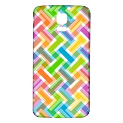 Abstract Pattern Colorful Wallpaper Background Samsung Galaxy S5 Back Case (White)