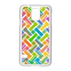 Abstract Pattern Colorful Wallpaper Background Samsung Galaxy S5 Case (White)