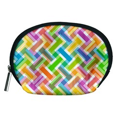 Abstract Pattern Colorful Wallpaper Background Accessory Pouches (Medium)