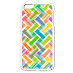 Abstract Pattern Colorful Wallpaper Background Apple iPhone 6 Plus/6S Plus Enamel White Case