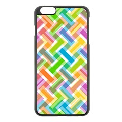 Abstract Pattern Colorful Wallpaper Background Apple iPhone 6 Plus/6S Plus Black Enamel Case