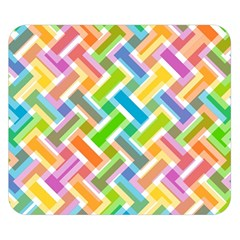 Abstract Pattern Colorful Wallpaper Background Double Sided Flano Blanket (Small)