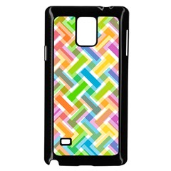 Abstract Pattern Colorful Wallpaper Background Samsung Galaxy Note 4 Case (Black)