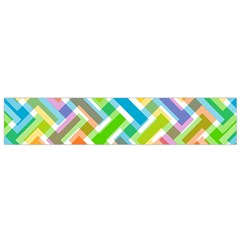Abstract Pattern Colorful Wallpaper Background Flano Scarf (Small)