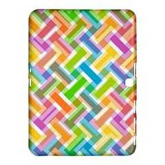 Abstract Pattern Colorful Wallpaper Background Samsung Galaxy Tab 4 (10.1 ) Hardshell Case
